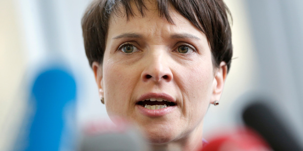Petry has seen a surge in popularity for her AfD party. Photo / AP
