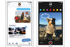 The Messages app has been redesigned to offer more expression options with the iOS 10 software update. Photo / AP