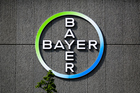 The Bayer AG logo on a building of the German drug and chemicals company in Berlin. Today's deal combines two of the six U.S. and European companies that dominate in agrochemicals. Photo / AP