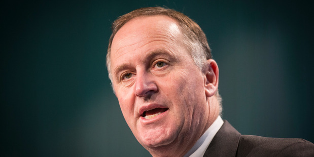 Loading Prime Minsiter John Key denies offering to pay for man's mixed grill and beers. Photo / Greg Bowker
