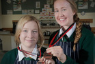 CLEVER COOKS: Whanganui High School students Charlotte Taylor (left) and Olivia Caird won a bronze medal at the recent final of the National Secondary Schools Culinary Challenge. PHOTO/BEVAN CONLEY