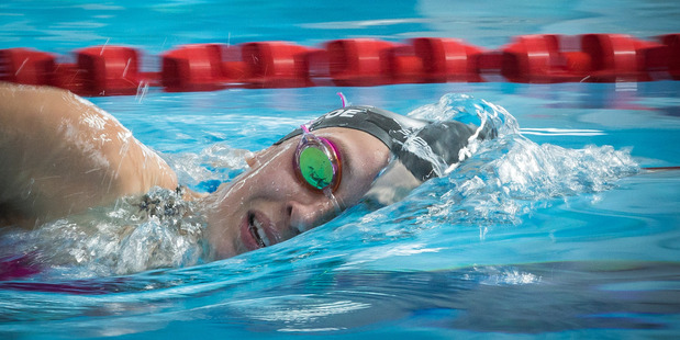 Sophie Pascoe, New Zealand Paralympic swimmer at the Milliennium Institute of Sport in the countdown to Rio. Photo / Greg Bowker