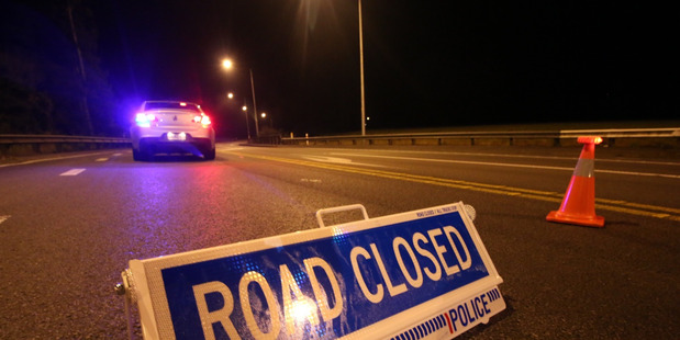 Seven people were injured in a two-car crash in Pukekohe last night. Photo / Herald On Sunday