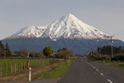 Mt Taranaki, viewed from near Stratford. Photo / Mark Mitchell