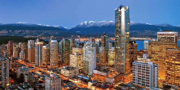 The Shangri-La is in the tallest building in British Columbia.