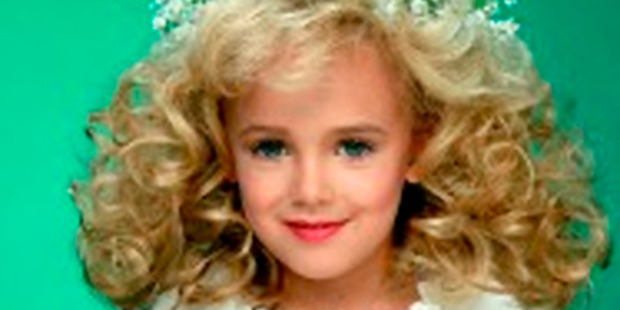 JonBenet Ramsey performing during a beauty pageant.