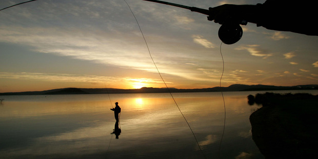 A Fish and Game promotion means anglers could win $10,000 if they catch the tagged trout.  Photo/File