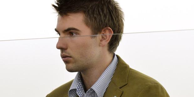 Nikolas James Posa Delegat is sentenced in the Dunedin District Court. Photo / Otago Daily Times