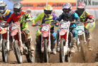 Riders in action at round three of the New Zealand Motocross Championships in Rotorua on Sunday. 13 March 2016 Rotorua Daily Post Photograph by Ben Fraser