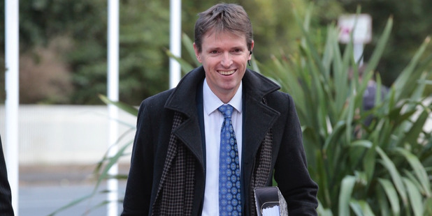 Colin Craig arrives at the Auckland High Court for his defamation trial brought by Jordan Williams. Photo / Brett Phibbs