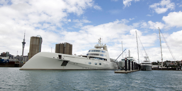 Loading Motor Yacht A owned by Andrey Melnichenko when it was moored in Auckland in 2013. Photo / File