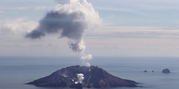 Small amounts of volcanic ash erupted from White Island yesterday. Photo/file