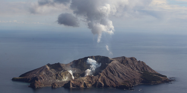 Volcanic ash passively erupted from a vent on White Island, off the Bay of Plenty Coast. Photo/file