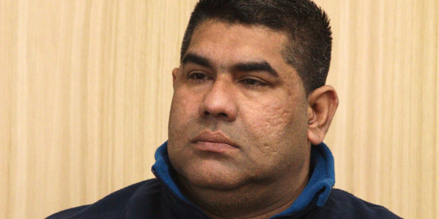 Faroz Ali on the first day of his trial on human trafficking charges at the High Court at Auckland. Photo / Pool.
