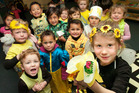 Children at TopKids Pukuatua dressed up in black and yellow yesterday in support of the Cancer Society's annual Daffodil Day.