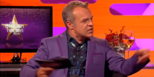 Graham Norton on the TV show Graham Norton Show Christmas special 2012. Photo / Supplied