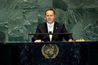 John Key addresses the general debate of the 64th session of the United Nations' General Assembly in 2009. Photo / AP