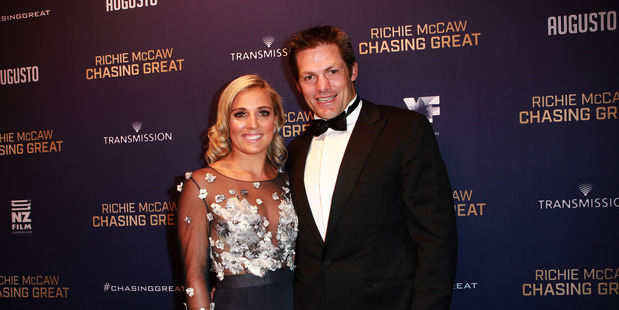 Richie McCaw Chasing Great film premiere. L to R. Gemma Flynn and Richie McCaw. 30 August 2016 Herald on Sunday Photograph by Norrie Montgomery.