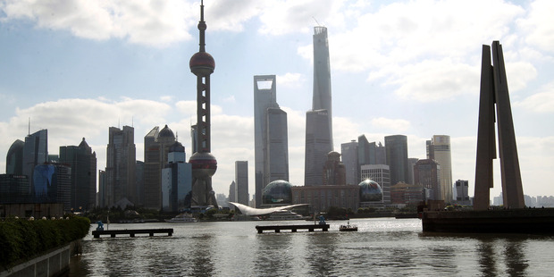 Shanghai's business district. Australian businesses continue to struggle to tap into the wealth of Asia. Photo / NZME