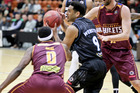 The Breakers playing the Brisbane Bullets in Napier earlier this week. Photo / Warren Buckland