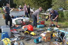 Builders and tradesmen were amongst those who recovered their gear from a huge stash of stolen goods discoverered by police at 127 Ngatarawa Rd, Bridge Pa, Hastings. 26 August 2016 Hawke's Bay Today