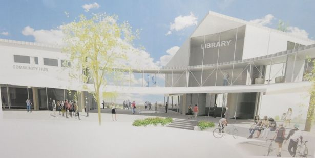 A 3D view of what the new Katikati Library and Community Hub might look like. Photo/Supplied.