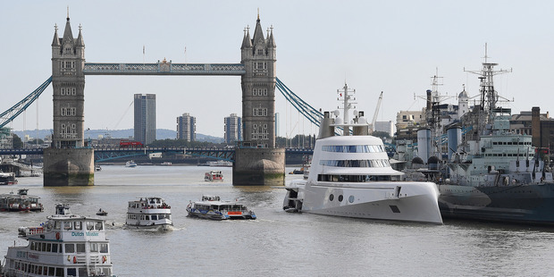 The Philippe Starck-designed boat has caused a bit of stir on the River Thames this week. Photo / Getty