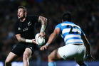 TJ Perenara of New Zealand in action during the Rugby Championship match between the New Zealand All Blacks and Argentina. Photo / Getty Images.