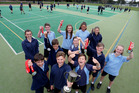 Whangarei Intermediate students show off their medals and trophy after a successful AIMS Games. Photo/John Stone