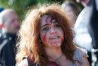 Kamo's Alyssa Rogers, 14, gets gory for a zombie film being made near Whangarei.