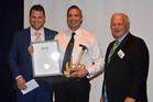 Matthew Hay,  Steven Farrant and David Hay at the Keith Hay Homes Awards. PHOTO/SUPPLIED