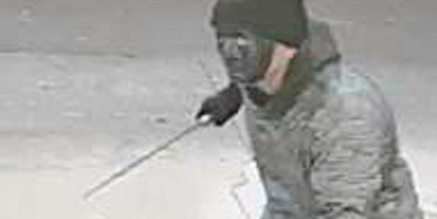 A man admitted to two aggravated robberies including this one captured on CCTV.