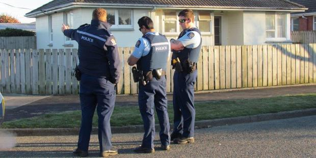 Police launched an investigation into the stabbing this morning. Photo / Ashburton Guardian