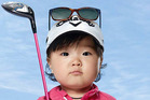 Baby Lydia Ko in the new Evian ad campaign.
