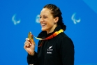 Sophie Pascoe won Paralympics gold, NZ's fourth, in the 200m IM SM10 swimming final. Photo / Photosport