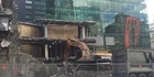 Watch: Auckland inner-city mall demolished