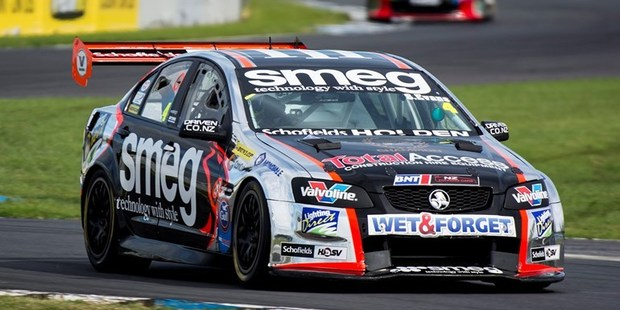 Simon Evans in action in the NZ V8 Touring Car Championship. Photo / Matthew Hansen