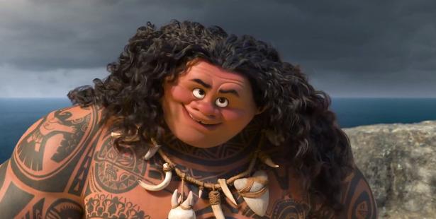 Dwayne 'The Rock' Johnson stars as the demi-god Maui in the Disney movie, Moana.