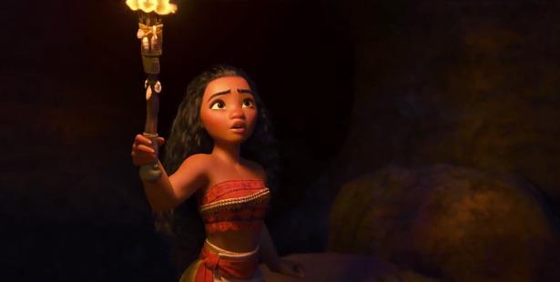 A scene from the animated Disney movie, Moana.