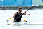 Scott Martlew of New Zealand competes in the Men's 200m KL3 Para-Canoeing. Photo / Getty