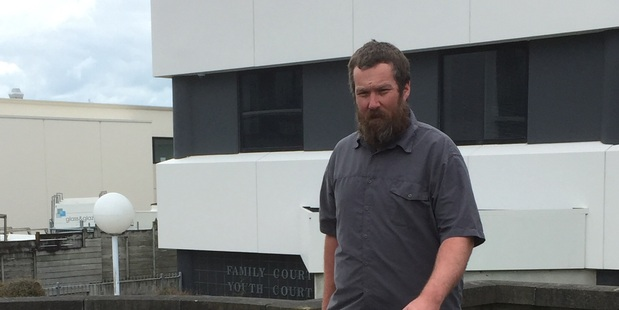 Michael Bruce Hayes leaves the Hamilton District Court today after admitting a charge of dangerous driving causing the death of Daniel Aretz at Raglan last year. Photo / Belinda Feek
