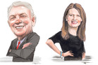 Phil Goff and Vic Crone. Illustration / Rod Emmerson