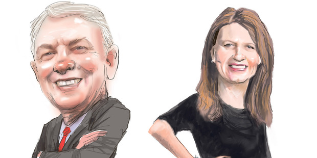 Loading Phil Goff and Vic Crone. Illustration / Rod Emmerson