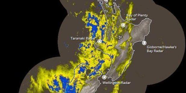 Loading Rain radar shows rainfall across the country. Photo / MetService