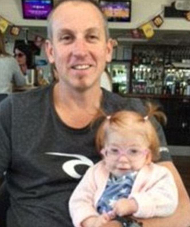Wayne Ball with daughter Aria. Photo / via Facebook