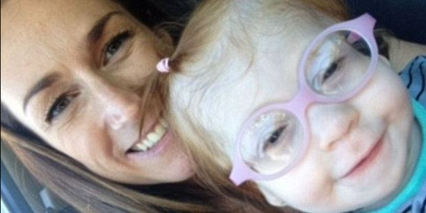 Regan Hooker with daughter Aria, who is now 2 years old. Photo / via Facebook