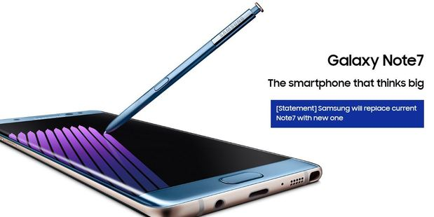 Samsung's website has a message about the Note7.