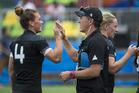 New Zealand women's sevens coach Sean Horan, right. Photo / Photosport
