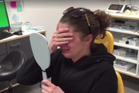 The mother-of-four broke down in tears when she saw her new smile for the first time. Photo / Facebook