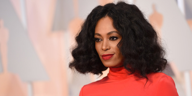 Solange Knowles was infuriated after a group of white women threw a lime at her and told her to sit down. Photo / AP